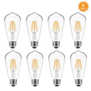 UL Listed 60-Watt Equivalent ST58 E26 Edison LED Light Bulb in Warm White 2700K (8-Pack)