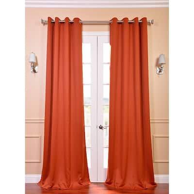 Blaze Rod Pocket Blackout Curtain - 50 in. W x 96 in. L