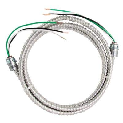 12/2 x 10 ft. Stranded CU MC (Metal Clad) Armorlite Modular Assembly Quick Cable Whip