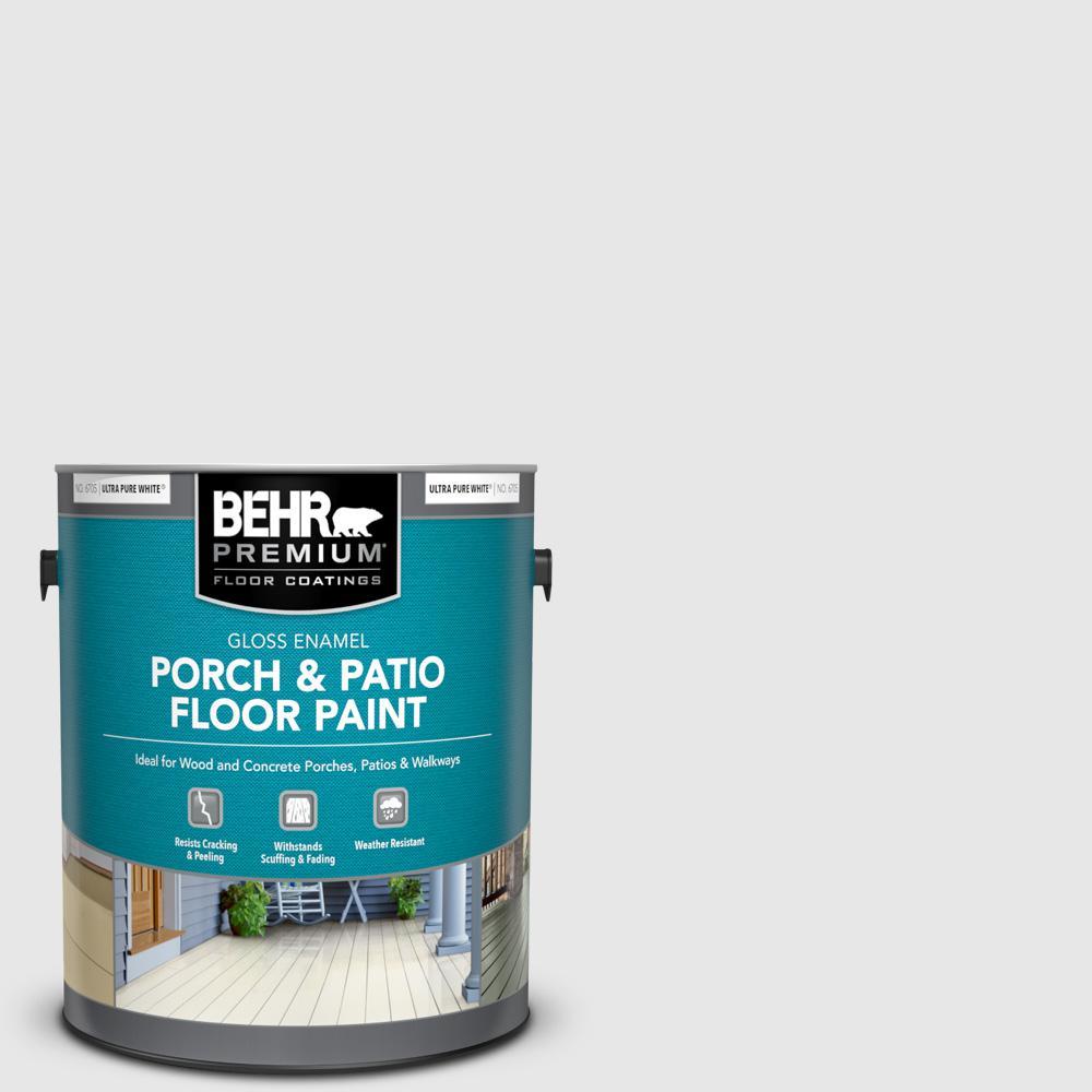 1 gal. #PR-W09 Nimbus Cloud Gloss Enamel Interior/Exterior Porch and Patio Floor Paint