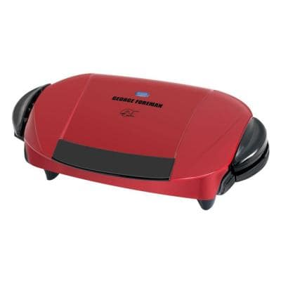 Red Indoor Grill with Removable Plates