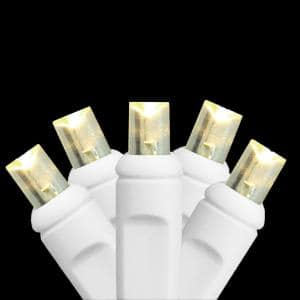 35-Light LED Warm White Wide Angle Christmas Light Set for a Light Curtain