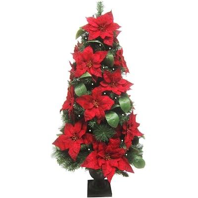 Prelit Christmas Porch Tree, Green