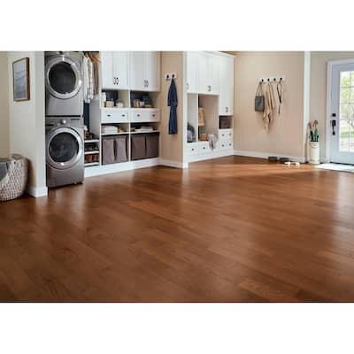 Hydropel Oak Gunstock 7/16 in. T x 5 in. W x Varying Length Engineered Hardwood Flooring (22.6 sq. ft.)
