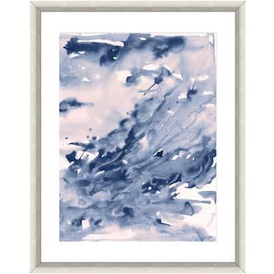 """""""Seafoam watercolor I"""" Framed Archival Paper Wall Art (26 in. x 32 in. Full Size)"""
