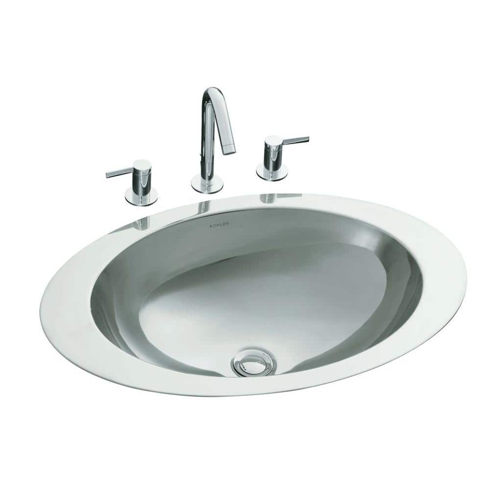 Oval Stainless Steal Bathroom Sink, Drop In Oval Bathroom Sinks