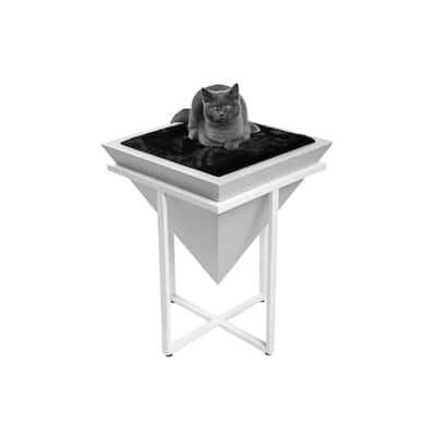 Medium Gray Pharaoh Elevated Cat Bed Pyramid