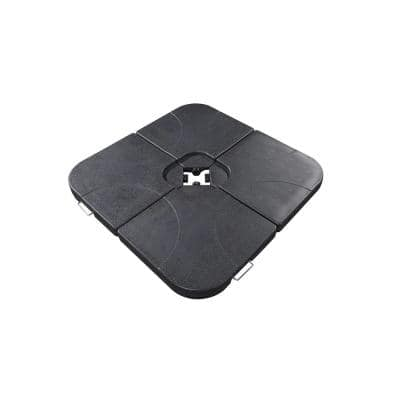 40 in. Cross-Arm Umbrella Base Weights in Black (4-Piece)