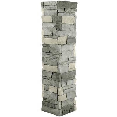 Stacked Stone 1-1/2 in. x 11-1/2 in. Northern Slate Faux Pillar Panel