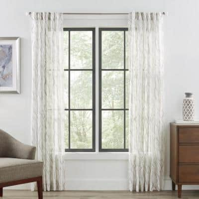 66 in. - 120 in. Telescoping 3/4 in. Single Curtain Rod Kit in Brushed Nickel with Crystal Square Finials
