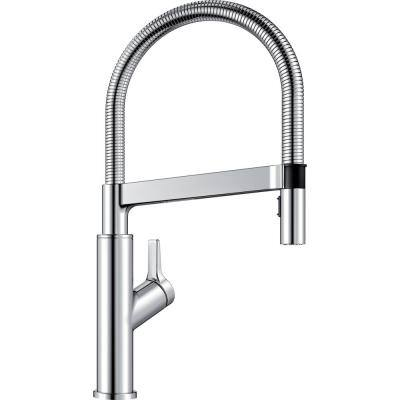 SOLENTA Semi-Pro Single-Handle Pull-Down Sprayer Kitchen Faucet in Polished Chrome