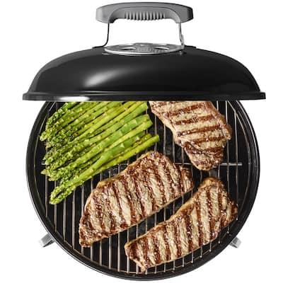 Smokey Joe Portable Charcoal Grill in Black