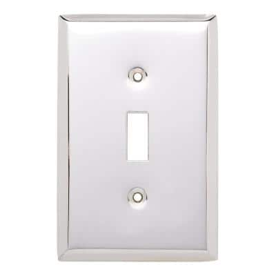 Chrome 1-Gang Toggle Wall Plate (1-Pack)