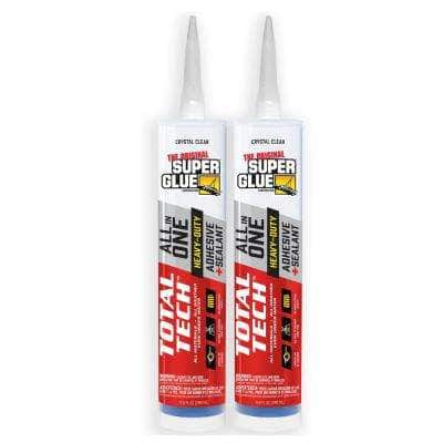 Total Tech (2) 0.98 oz. Clear All-In-One Adhesive and Sealant Cartridge (2-Pack)