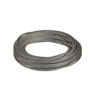 1/16 in. x 50 ft. Galvanized Steel Uncoated Wire Rope