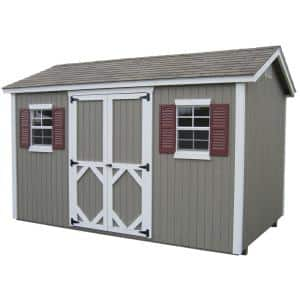 Classic Cottage 10 ft. x 10 ft. Wood Storage Building DIY Kit with Floor