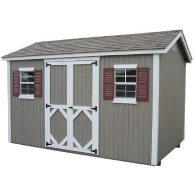 Classic Cottage 12 ft. x 14 ft. Wood Storage Building DIY Kit with Floor