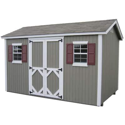 Classic Workshop 8 ft. x 8 ft. Wood Storage Building DIY Kit with Floor