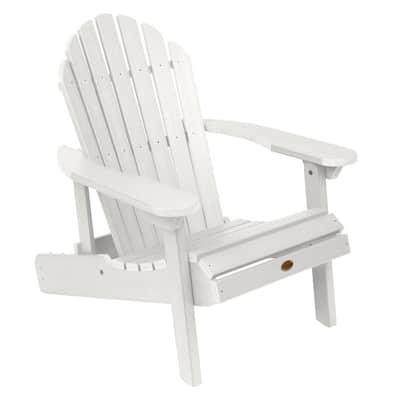Hamilton White Plastic Reclining Adirondack Chair