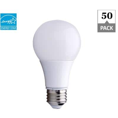100-Watt Equivalent A19 ENERGY STAR and Dimmable 25,000-Hour LED Light Bulb, Soft White 2700K (50-Pack)