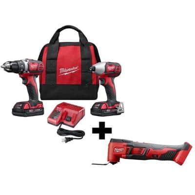 M18 18-Volt Lithium-Ion Cordless Drill Driver/Impact Driver Combo Kit (2-Tool) with 2 Batteries and Multi-Tool