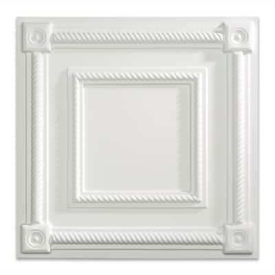 Coffer 2 ft. x 2 ft. Matte White Lay-In Vinyl Ceiling Tile ( 20 sq.ft. )