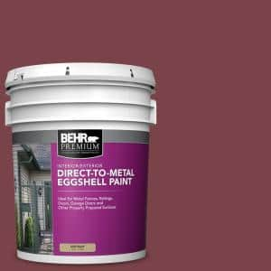 Behr Premium 5 Gal Ppu1 13 Spiced Wine Eggshell Direct To Metal Interior Exterior Paint 723005 The Home Depot