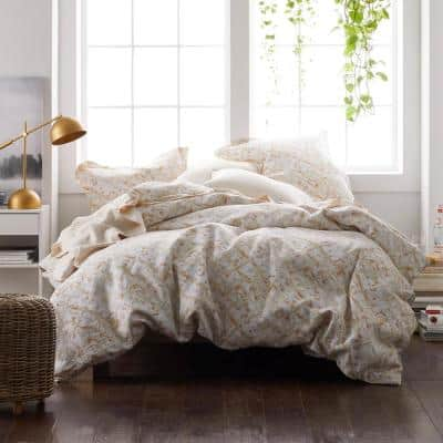 Textured Geo Linen Pillowcase (Set of 2)