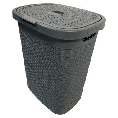 MH 50 l Capacity Gray Plastic Laundry Hamper