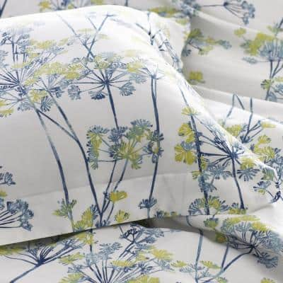 Company Cotton™ Meadow Bamboo Multicolored Botanical Sateen Duvet Cover