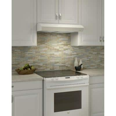 Mantra 30 in. Convertible Under Cabinet Range Hood with Light in White