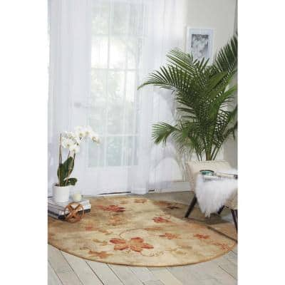 Somerset Multicolor 6 ft. x 6 ft. Oriental Modern Round Area Rug