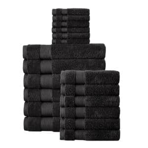 18-Piece Hygrocotton Towel Set in Black