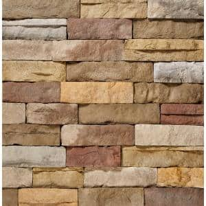 12 in. x 4 in. Manufactured Stone Ledgestone Poinset Flat Siding (5 sq. ft. Pack)