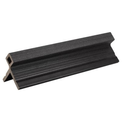 European Siding System 3.0 in. x 3.1 in. x 8 ft. Composite Siding Corner Trim Board in Hawaiian Charcoal