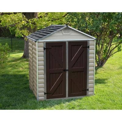 SkyLight 6 ft. x 5 ft. Tan Garden Outdoor Storage Shed