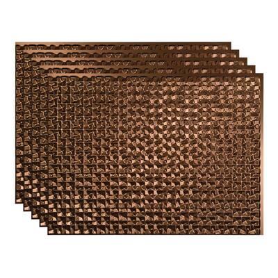 Terrain 18 in. x 24 in. Oil Rubbed Bronze Vinyl Decorative Wall Tile Backsplash 15 sq. ft. Kit