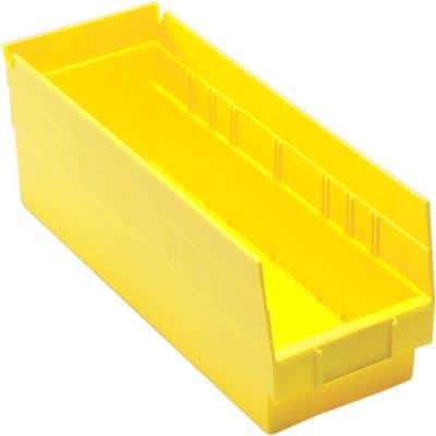 Economy Shelf 3 Qt. Storage Tote in Yellow (20-Pack)