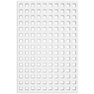 Square 32 in. x 4 ft. White Vinyl Decorative Screen Panel
