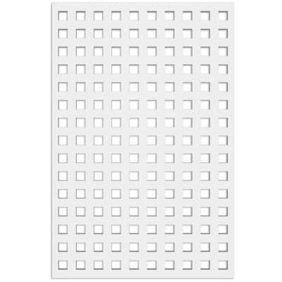 Square 4 ft. x 32 in. White Vinyl Decorative Screen Panel