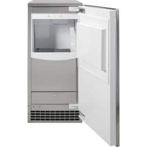 15 in. Built-In 56 lbs. Freestanding Ice Maker in Stainless Steel