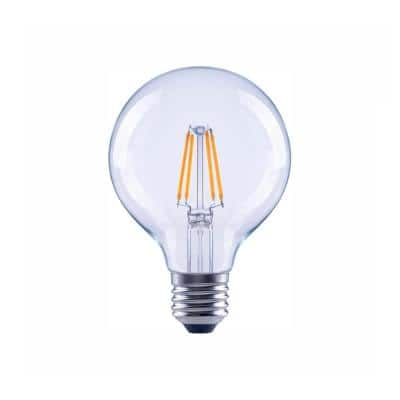 60-Watt Equivalent G25 Globe Dimmable Clear Glass Filament Vintage Style LED Light Bulb Soft White (48-Pack)