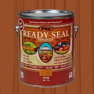 1 gal. Pecan Exterior Wood Stain and Sealer