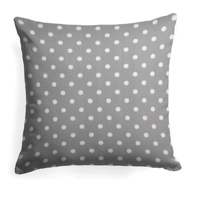 Coastal Grey Square Outdoor Throw Pillow