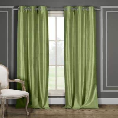 Sage Thermal Grommet Blackout Curtain - 38 in. W x 96 in. L