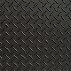 7.5 ft. x 20 ft. Black Textured PVC Large Car Mat