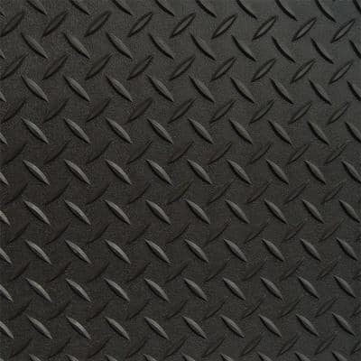 7.5 ft. x 20 ft. Black Textured PVC Large Car Mat