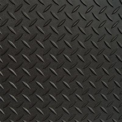 5 ft. x 20 ft. Black Textured PVC Rollout Flooring