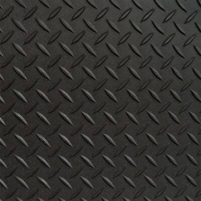 2 ft. x 2.5 ft. Black Textured PVC Door Mat