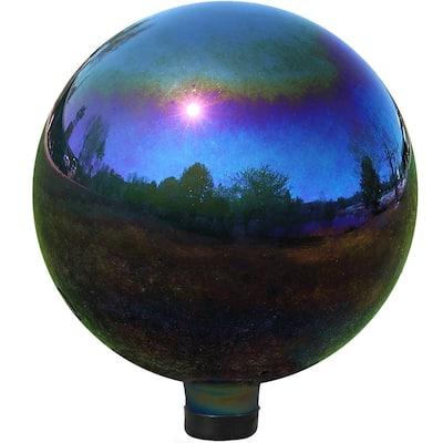10 in. Mirrored Garden Gazing Ball Rainbow